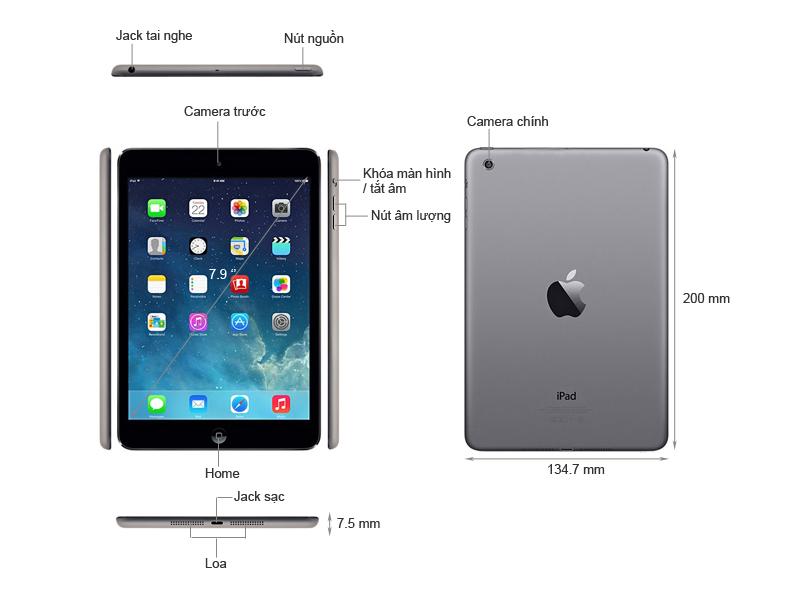 Máy tính bảng Apple ipad mini Retina wifi 4G - 32GB