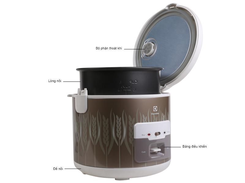 Nồi cơm điện ELECTROLUX ERC2200 1.8 L, 4 tính năng