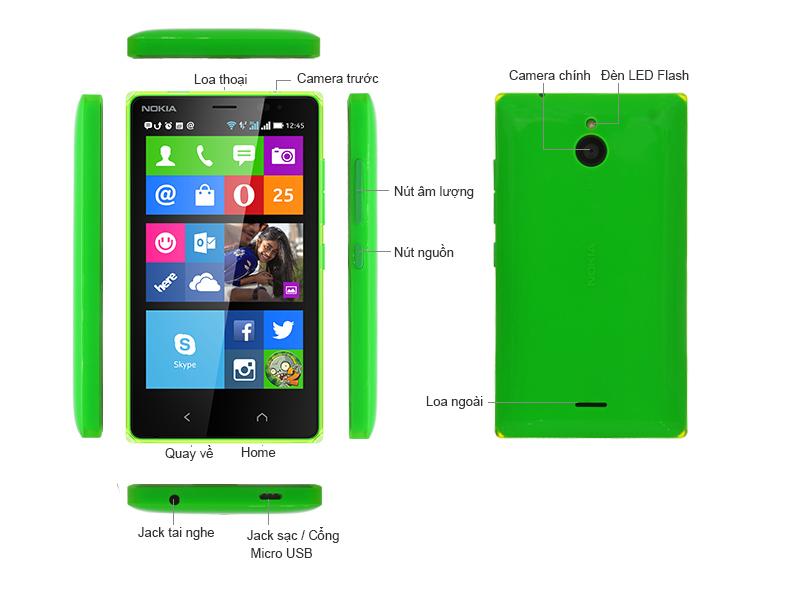 Điện thoại di động Nokia X2 Bright Orange - RM1013
