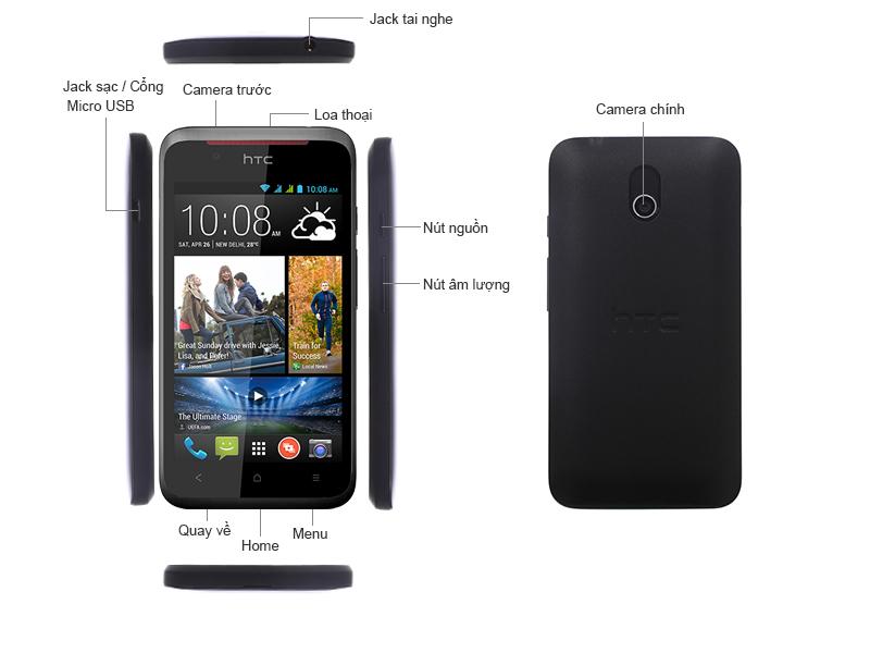 HTC Desire 210 - 2 sim màu trắng