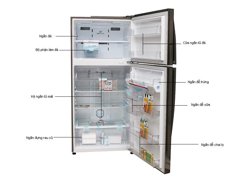 Tủ lạnh LG GRL702S - 490L INVERTER màu bạc