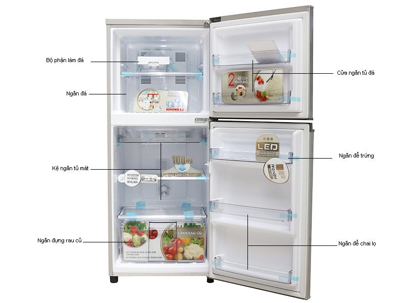 Tủ lạnh Panasonic NRBM179GSVN -152lit