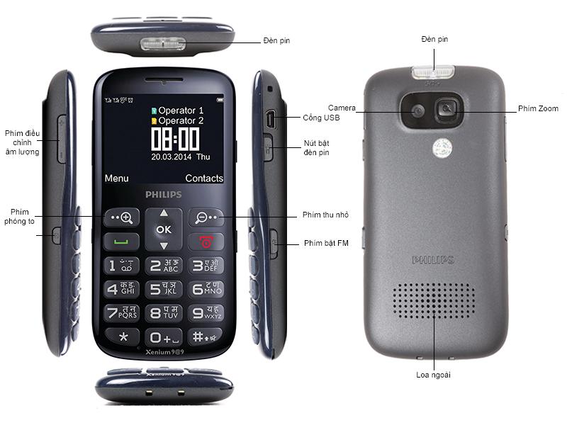 Philips X2566 Dual Sim - Xanh