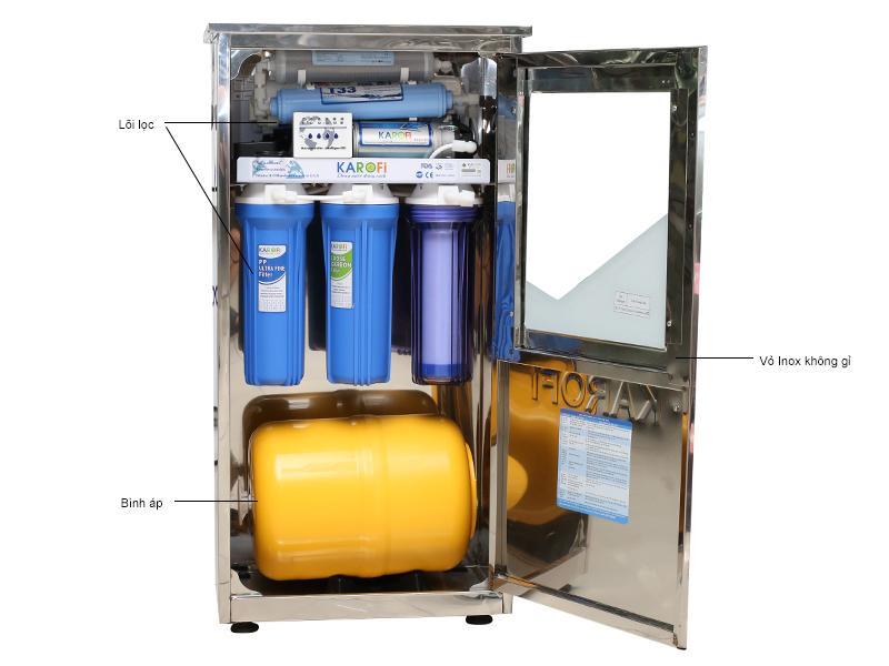 Máy lọc nước Karofi thông minh 6 cấp - Có tủ inox K6I