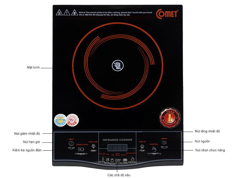 Bếp hồng ngoại Comet CM5516, công suất 2100W