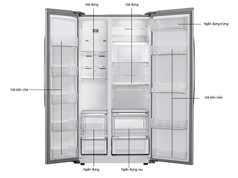 Tủ lạnh SBS LG GRB227GS