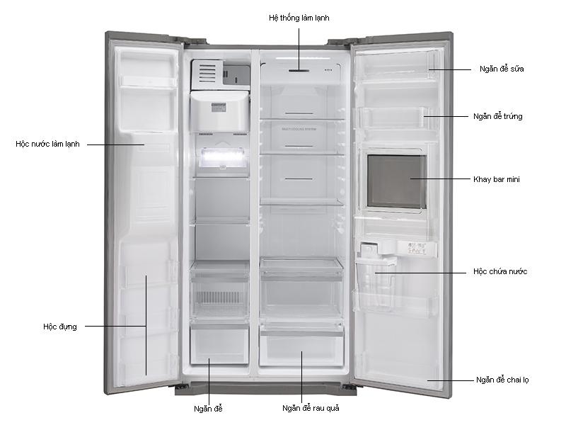 Tủ lạnh SBS LG GRB227GP