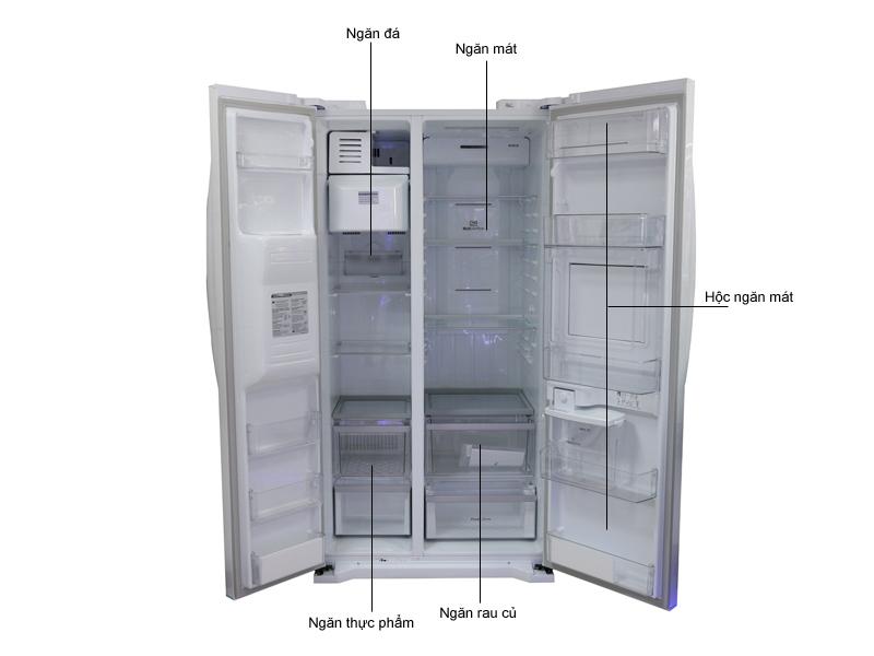 Tủ lạnh SBS LG GRP227GS