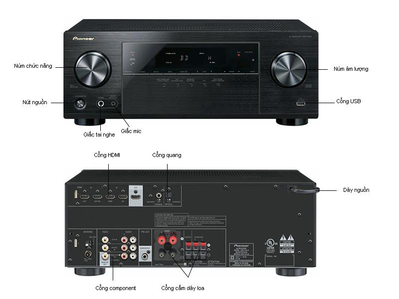 Amply Pioneer VSX-524-K