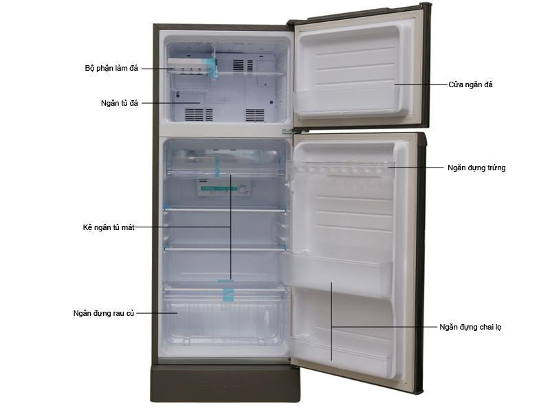 Tủ lạnh Sharp SJ-192E-SS - Xám
