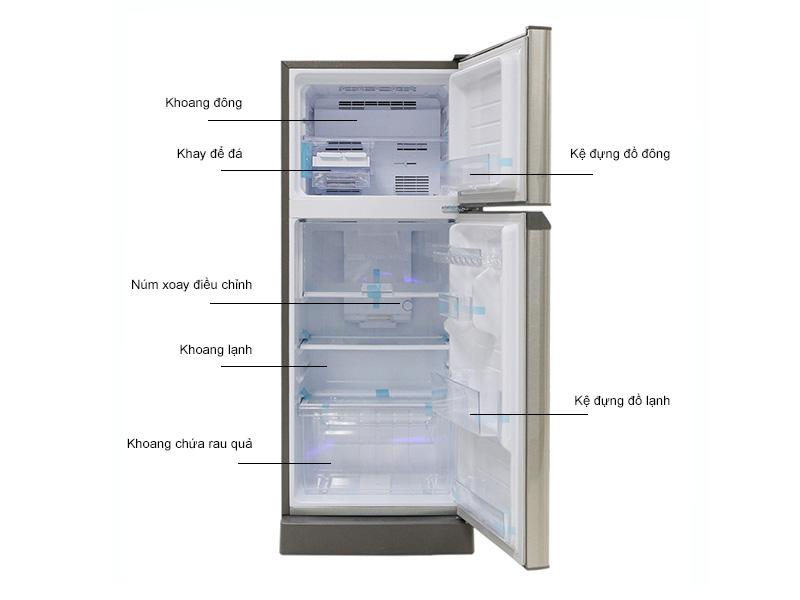Tủ lạnh Sharp SJ218PST - Bạc