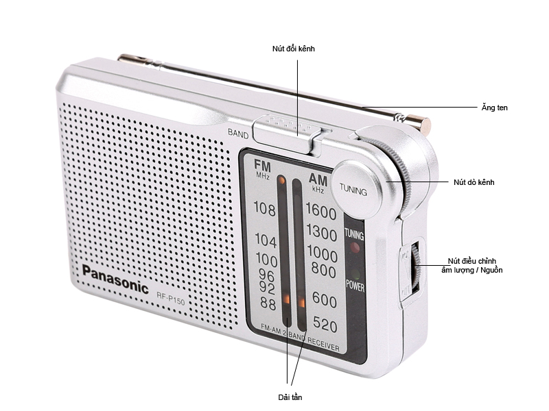 Đài Radio FM/AM Panasonic RF-P150BATGA