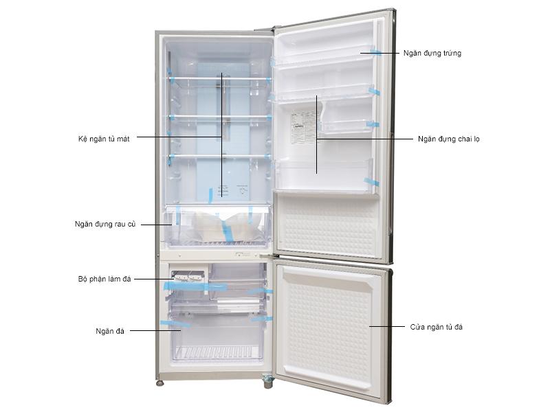 Tủ lạnh Panasonic NR-BR347XSVN - Màu thép không gỉ