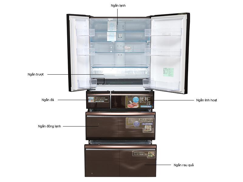 Tủ Lạnh Mitsubishi MR-WX71YB-RV Nâu Ánh Kim