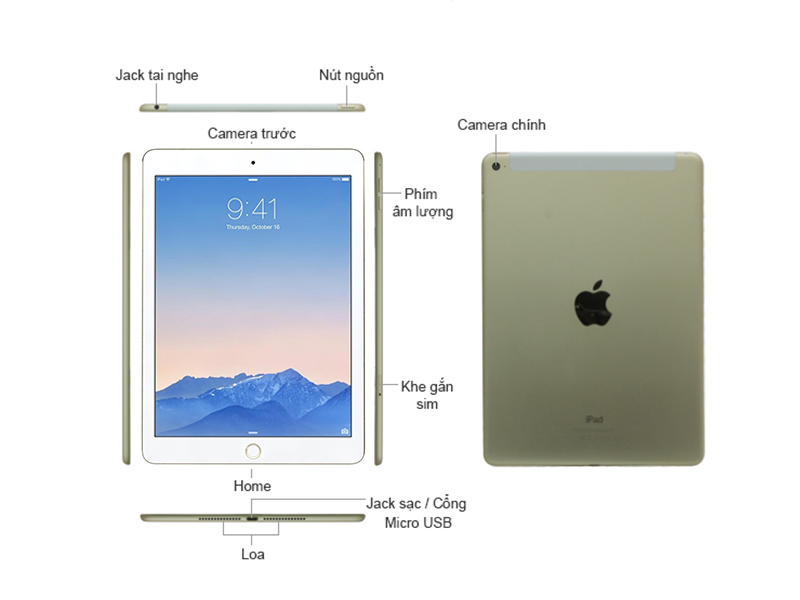 IPad AIR 2 WI-FI 16GB - Gold