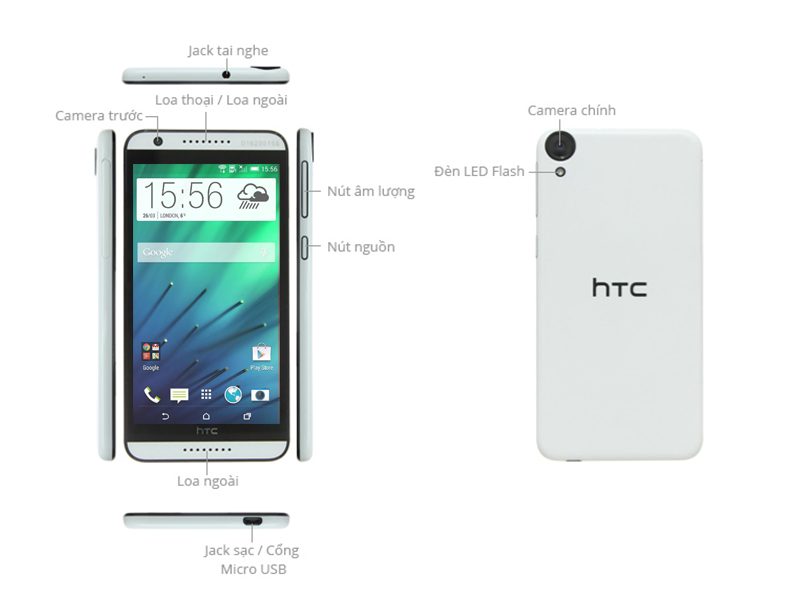 HTC Desire 820S Dual Sim - Xám