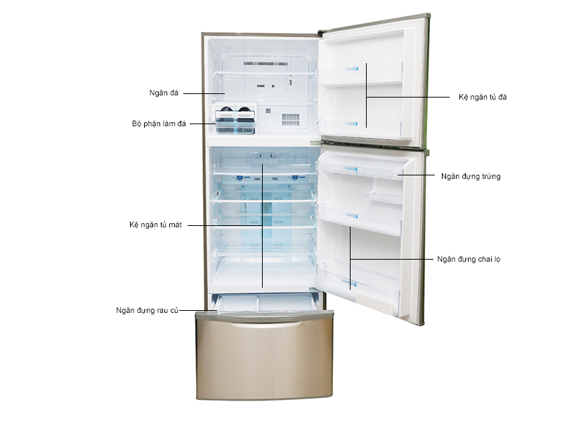 Tủ lạnh MITSUBISHI MR-V45G-ST-V - Màu thép không gỉ