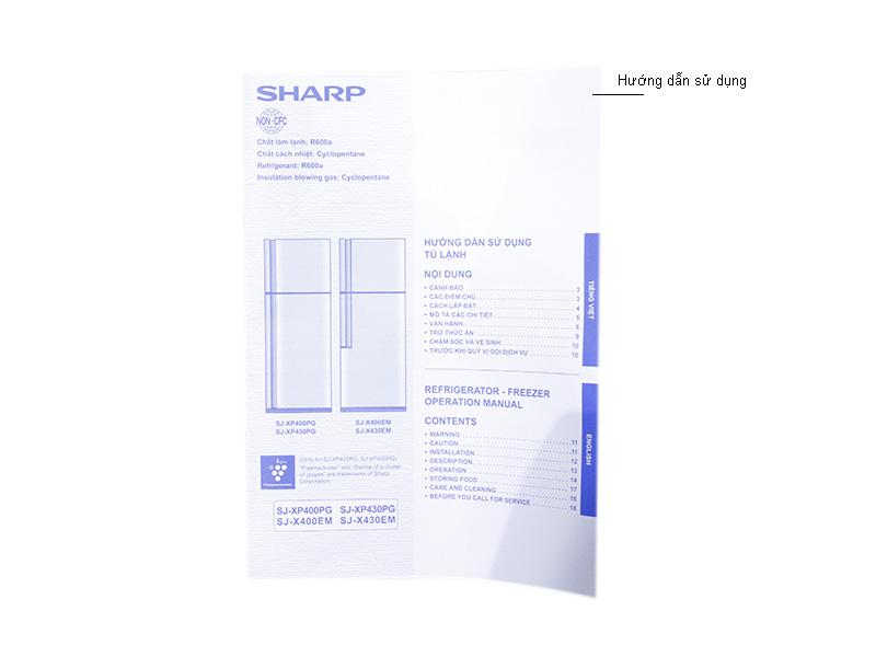 Tủ lạnh Inverter Sharp SJXP430PGSL