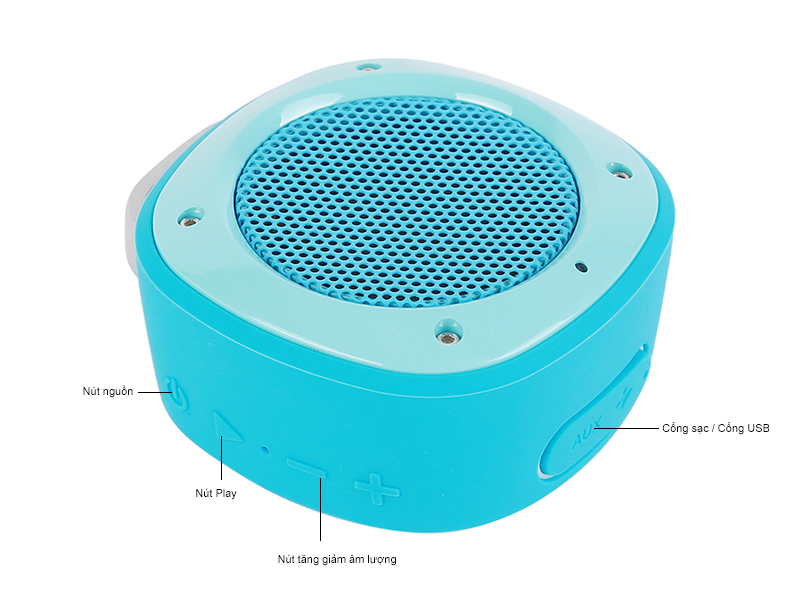 Loa Bluetooth Divoom Voombox Airbeat 10 -Trắng