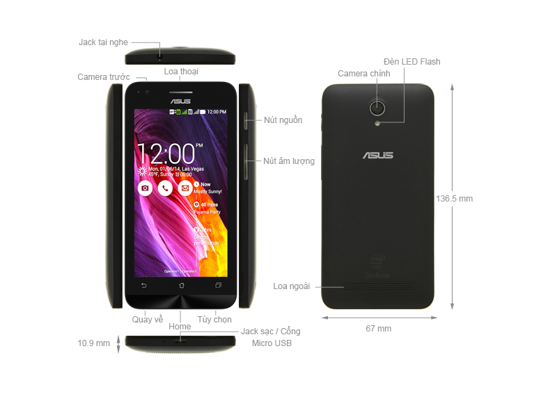 Asus Zenfone C ZC451CG- Đen