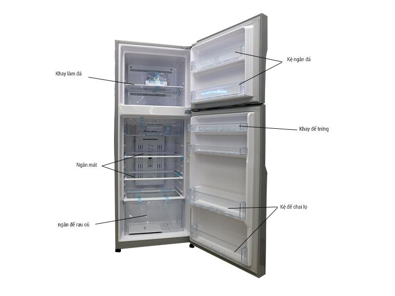 Tủ lạnh Hitachi RH310PGV4SLS 260L - bạc