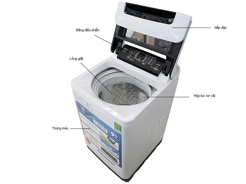 Máy Giặt Panasonic NA-F100A1WRV - 10 kg Màu Bạc