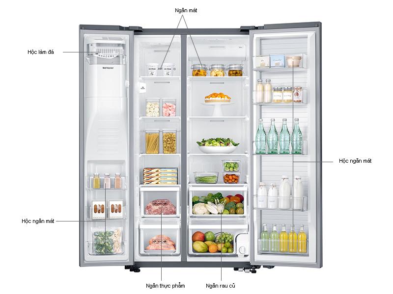Tủ lạnh SBS Samsung RH57J90407FSV - 570 lít