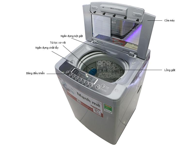 Máy giặt LG WFS8019DB - màu thép