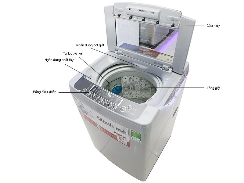 Máy giặt LG WFS7519BW  - Trắng