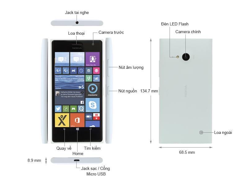 Nokia Lumia 730 RM-1040 - Đen