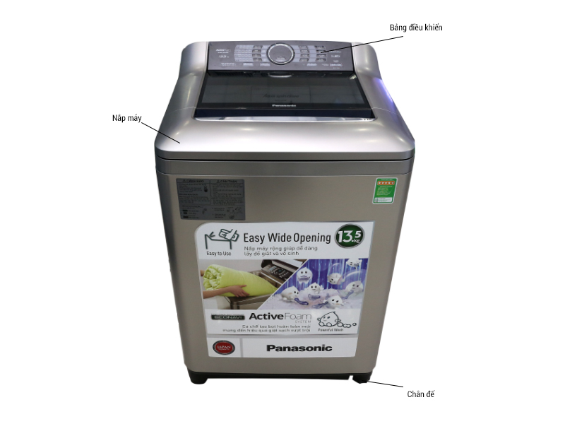 Máy giặt Panasonic NAF135X1SR - Bạc