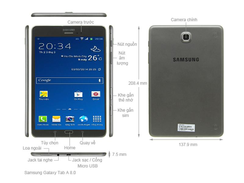Samsung Galaxy Tab A 8.0 SM-T355 - Đen