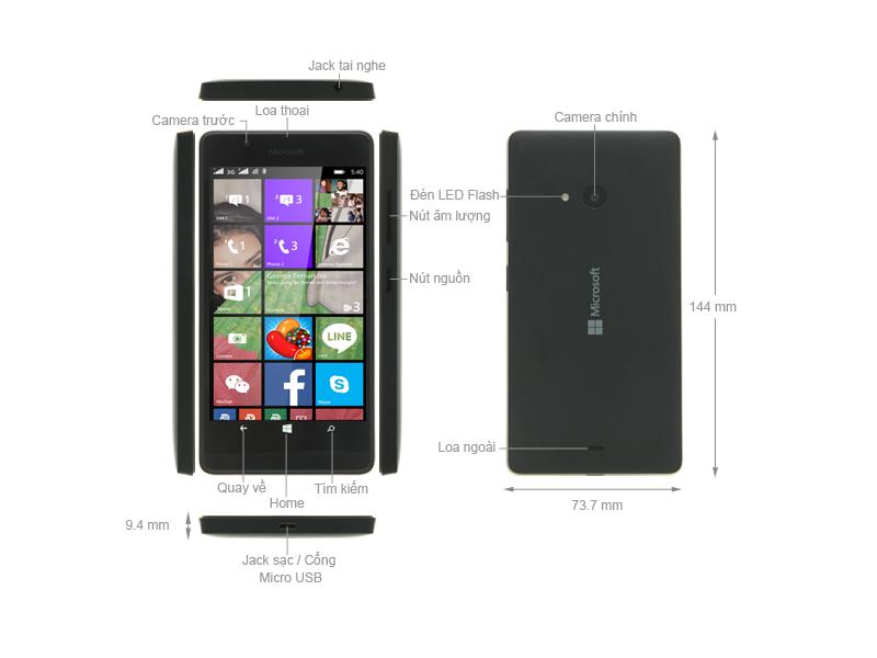 Microsoft Lumia 540 RM-1141 - Đen