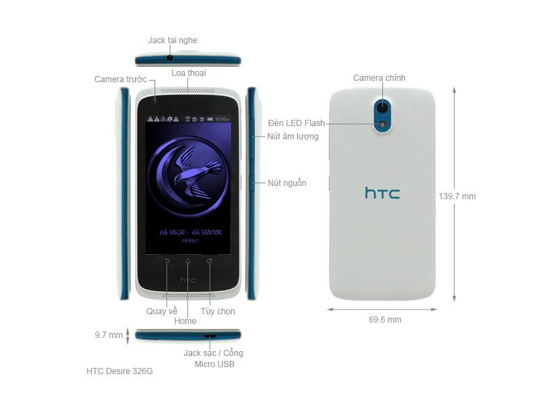 HTC Desire 326G Dual Sim - Đen