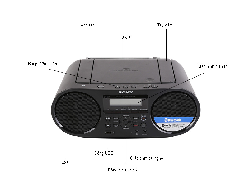 Cassette Sony ZS-RS60BT
