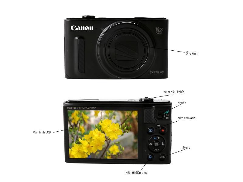 Máy ảnh Canon SX610 - Trắng