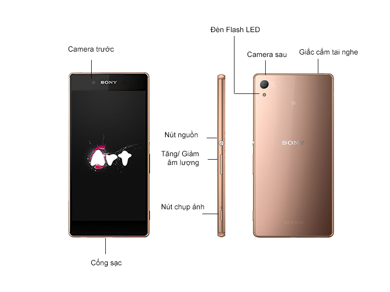 Sony Xperia Z3 plus D6553 - Màu Đồng