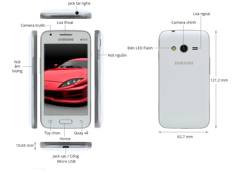 Samsung Galaxy V Plus G318H - Trắng