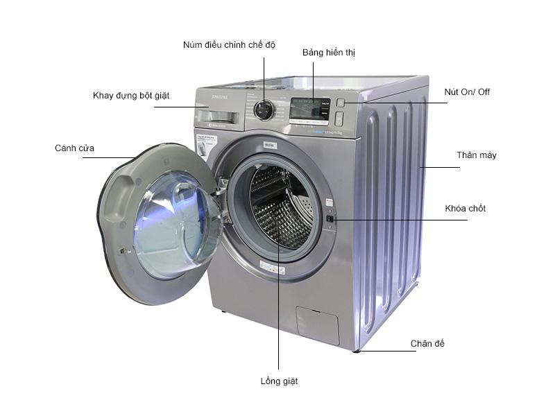 Máy giặt sấy Samsung WD10J6410AXSV