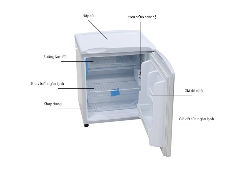 Tủ lạnh Aqua AQR55ARSH - Xám