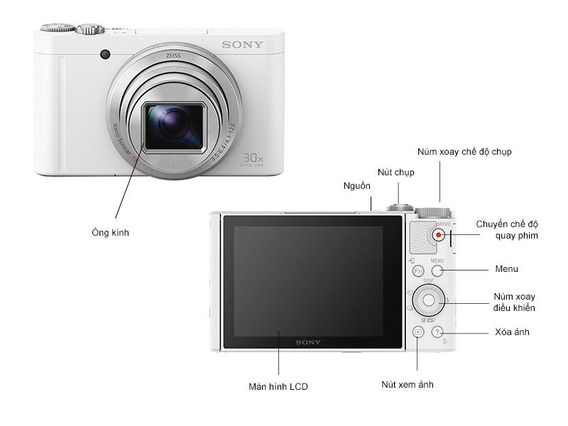 Máy Ảnh Sony DSC-WX500W - Trắng