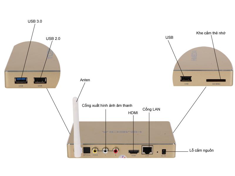 Đầu phát HD HiMedia Q8