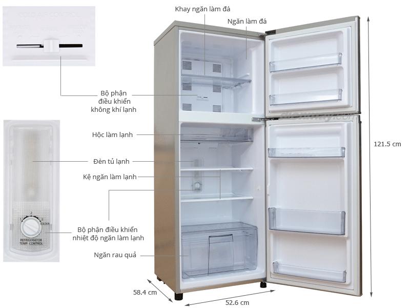 Tủ lạnh Panasonic NRBM229GSVN - 188L