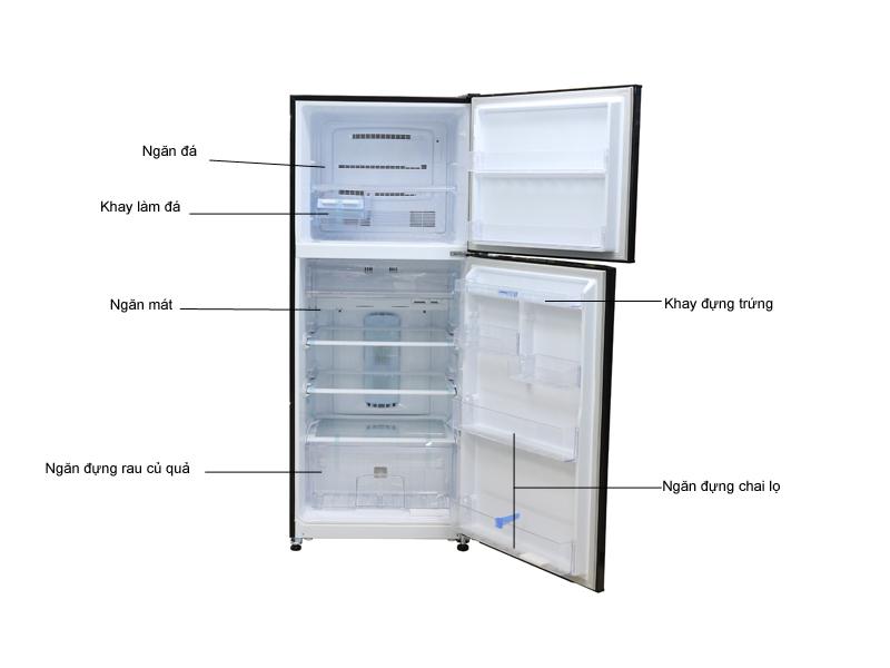 Tủ lạnh MITSUBISHI MRF47EHBRWV - Nâu