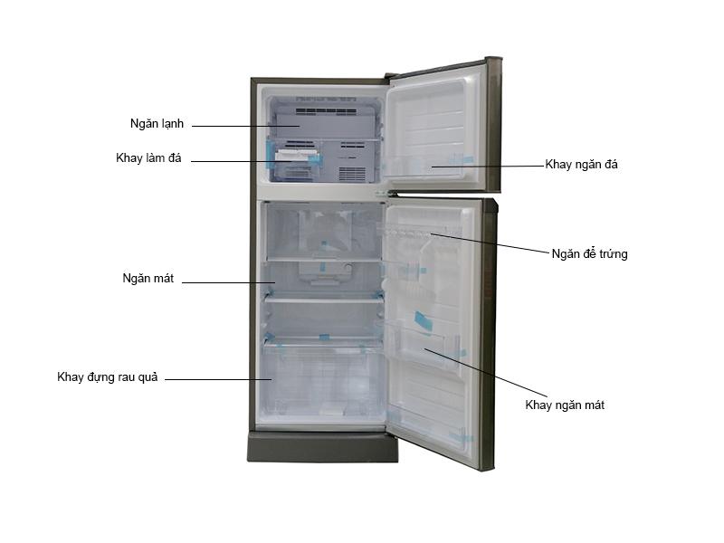 Tủ lạnh Sharp SJ217PSL - Bạc