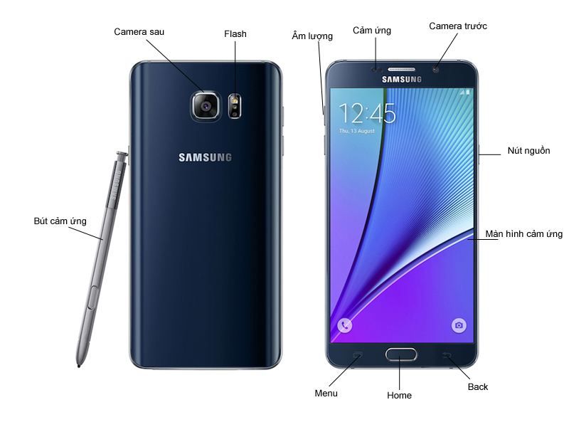 Samsung Galaxy Note 5 - Đen