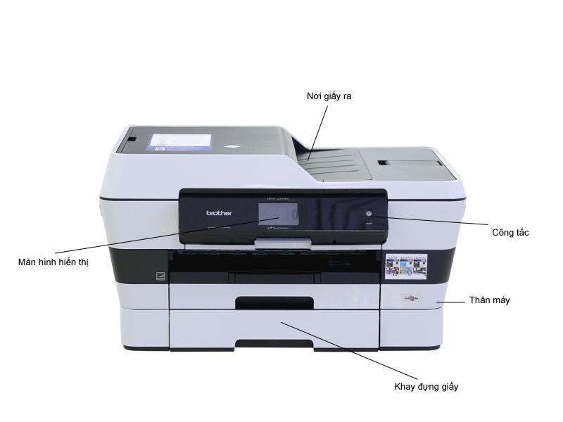 Máy in phun màu có Fax Brother J3720