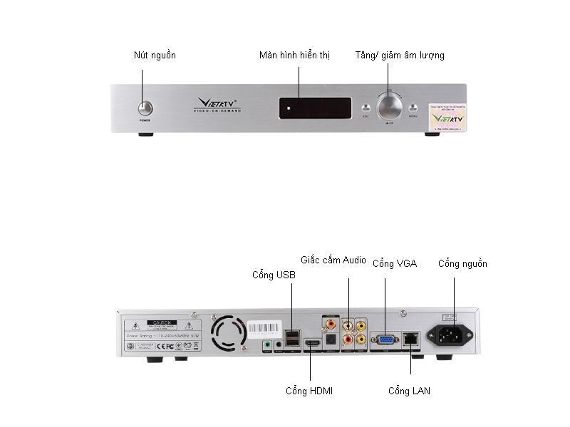 Đầu Karaoke Việt KTV HD 2TB - VK - 080 - 2000