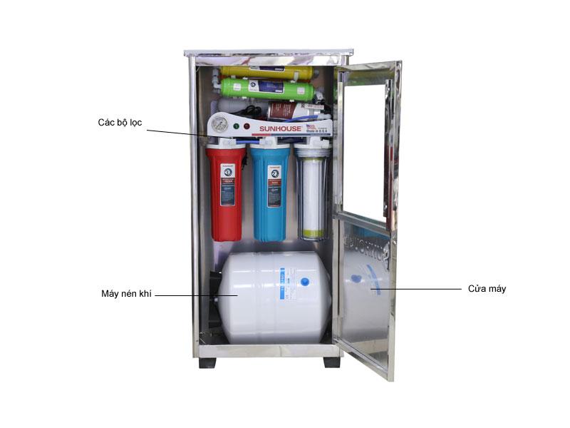 Máy lọc nước R.O 8 lõi lọc SHR8838B