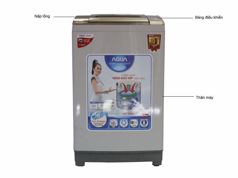 Máy giặt Aqua AQWQW80ZTH - Xám